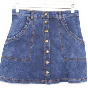 💘 Angel Premium Women's Jean Mini Skirt Buttons